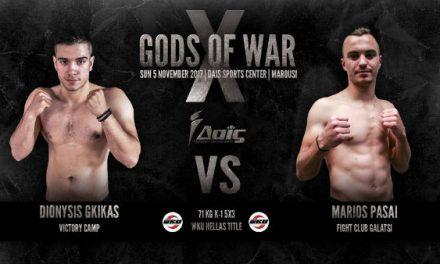 GODS OF WAR X-D.GIKAS VS M.PASAI-Title Fight WKU 71 kg