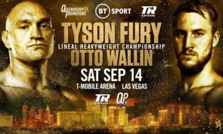 """Tyson Fury: """"Ο Wallin ήταν η καλύτερη επιλογή"""""""