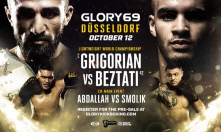 Grigorian εναντίον Beztati στο Glory 69 Dusseldorf