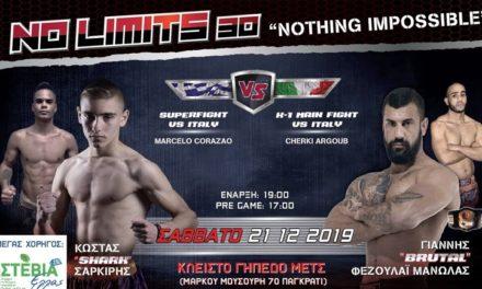 Δύο ανερχόμενοι αθλητές των FIGHTERS Athanasopoulos στην κάρτα του No Limits